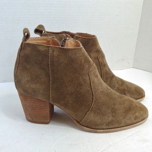 Madewell stacked heel ankle boots